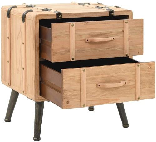 mesa vintage maleta madera maciza