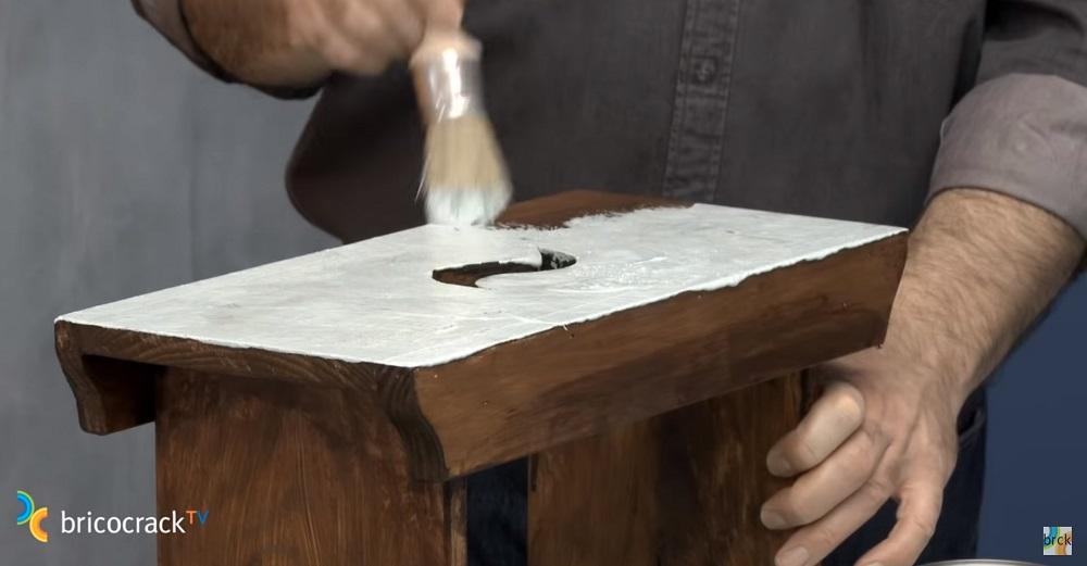 pintar madera estilo vintage efecto envejecido madera color blanco